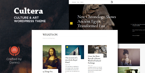 قالب Cultera - قالب وردپرس فرهنگ و هنر