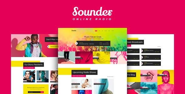 قالب Sounder - قالب وردپرس رادیو زنده