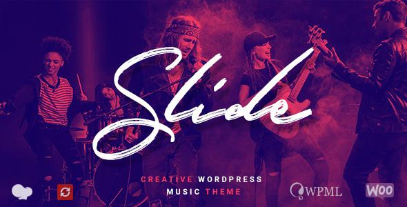قالب Slide - قالب وردپرس موسیقی