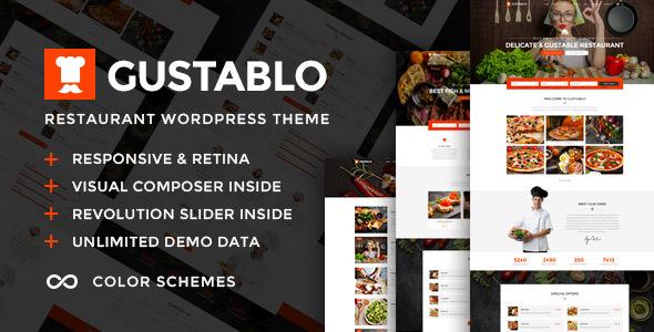 قالب Gustablo - قالب وردپرس برای سایت رستوران و کافی شاپ