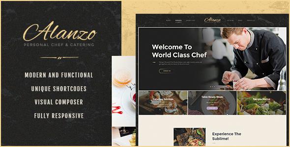 قالب Alanzo - قالب وردپرس آشپز شخصی و تهیه غذا
