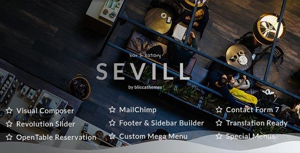 قالب Sevill - قالب وردپرس رستوران و کافه