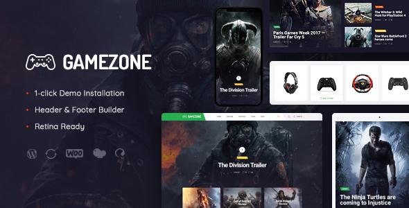 قالب Gamezone - قالب وردپرس مجله و فروشگاه بازی