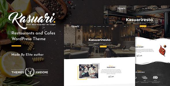 Kasuari - قالب وردپرس رستوران و کافه
