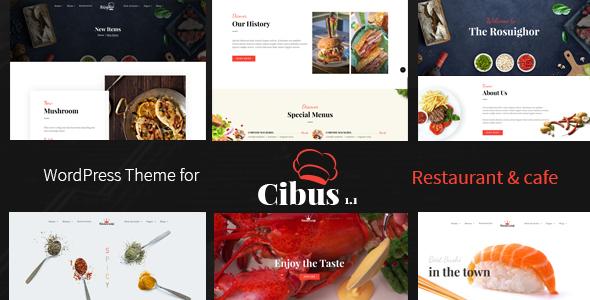 قالب Cibus - قالب وردپرس رستوران و کافه