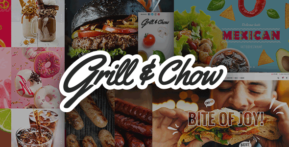 قالب Grill and Chow - قالب وردپرس فست فود و پیتزا