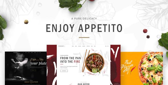قالب Appetito - قالب وردپرس مدرن برای رستوران ها و کافه ها