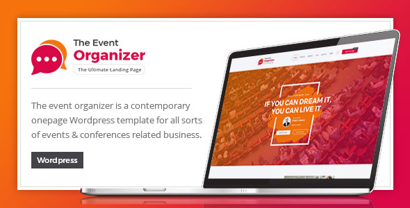 قالب Event Organizer - قالب وردپرس کنفرانس و رویداد