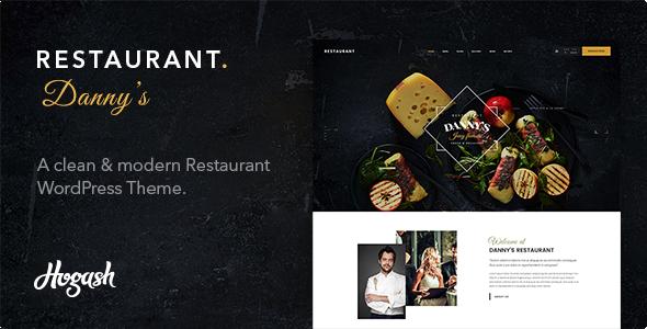 قالب Restaurant Dannys - قالب وردپرس رستوران و کافی شاپ