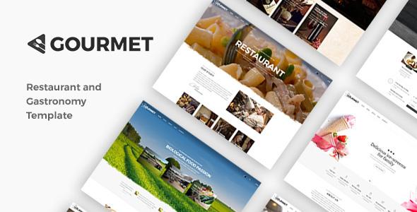 قالب Gourmet - قالب رستوران و غذاخوری وردپرس