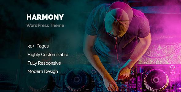 قالب Harmony - قالب موزیک برای وردپرس