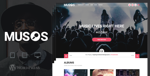 قالب Musos - قالب وردپرس موسیقی