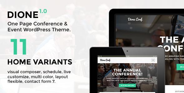 قالب Dione - قالب وردپرس کنفرانس و رویداد