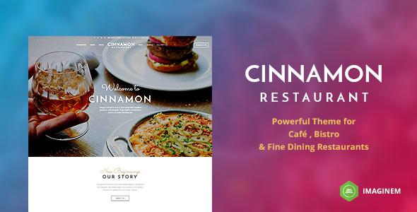 قالب Cinnamon Restaurant - قالب وردپرس