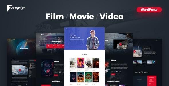 قالب FilmCampaign - قالب وردپرس کمپین فیلم