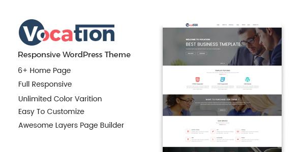 قالب Vocation - قالب وردپرس شرکتی