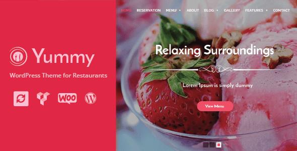 Yummy - قالب وردپرس رستوران و سفارش غذا