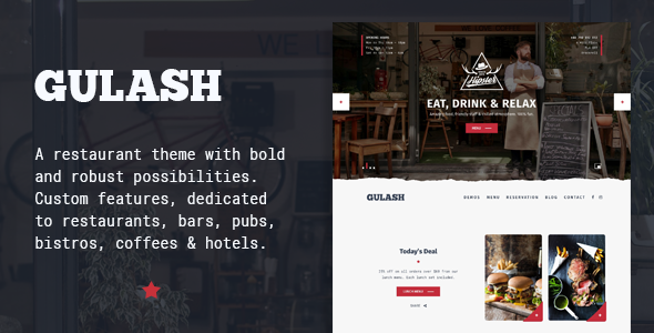 قالب Gulash - قالب سایت رستوران و کافه