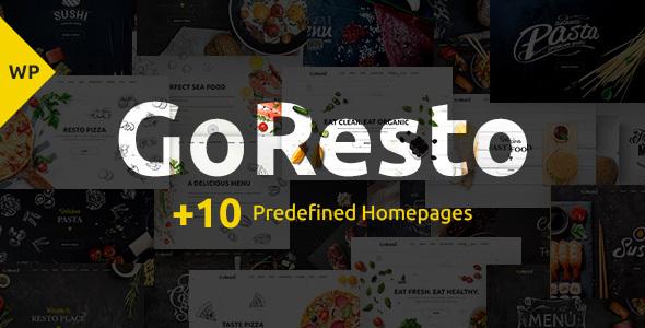 قالب GoResto - قالب وردپرس رزرو رستوران و میز