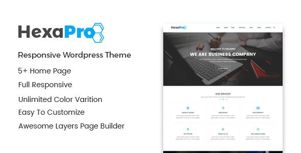 قالب Hexapro - قالب وردپرس شرکتی