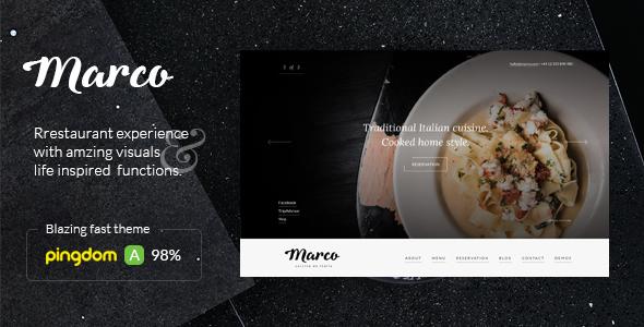 Marco - قالب وردپرس رستوران و کافه