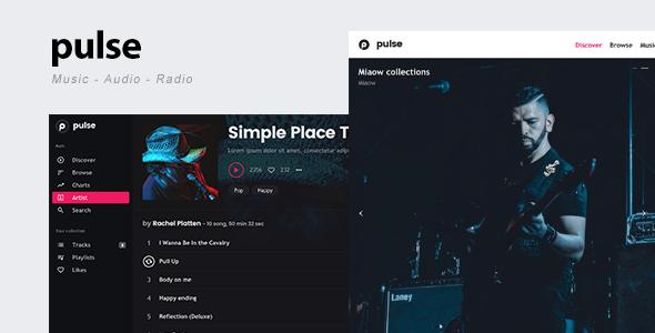 قالب pulse - قالب وردپرس موزیک، صدا و رادیو