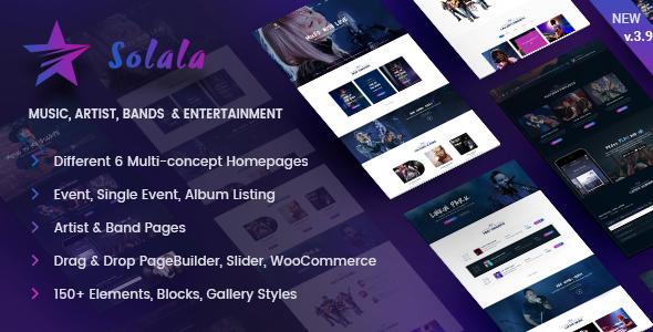 قالب Solala Music - قالب موزیک برای وردپرس