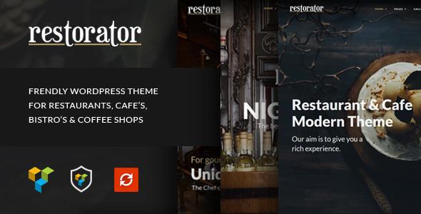 قالب Restorator - قالب وردپرس رستوران و کافه