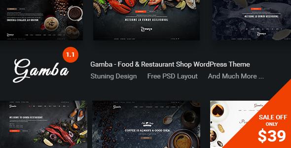 Gamba - قالب وردپرس غذا و رستوران