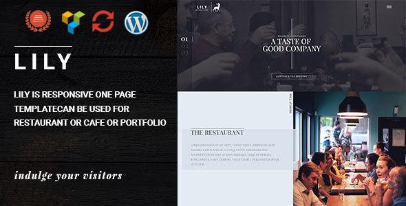 قالب Lily - قالب وردپرس تک صفحه رستوران