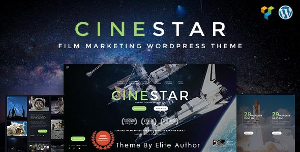 قالب CINESTAR - قالب وردپرس فروش فیلم