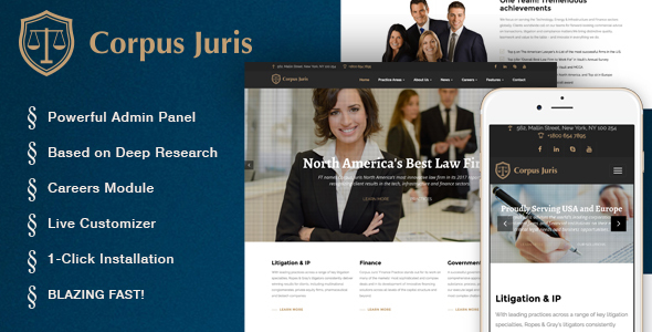 قالب Corpus Juris - قالب وردپرس موسسه حقوقی و مشاوره
