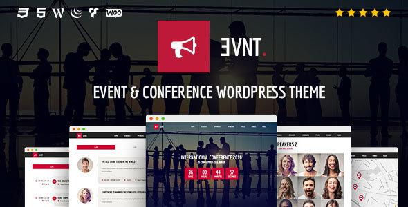 قالب Evnt - قالب وردپرس رویداد و کنفرانس