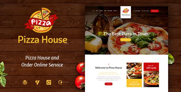 قالب Pizza House - قالب وردپرس رستوران و کافه