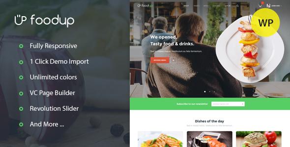 قالب FoodUp - قالب وردپرس غذا و رستوران