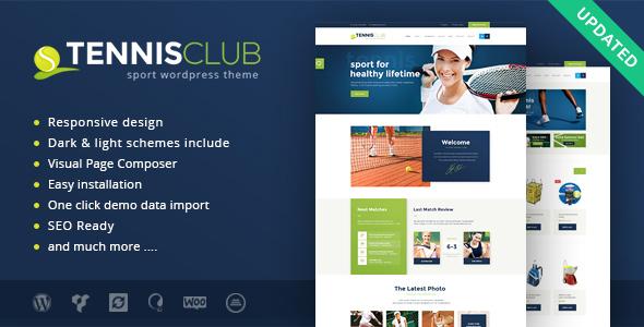 قالب تنیس کلاب | Tennis Club - قالب وردپرس ورزشی و رویدادها
