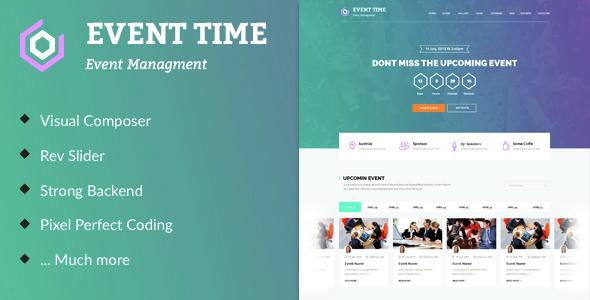 قالب Event Time - قالب وردپرس کنفرانس و رویداد
