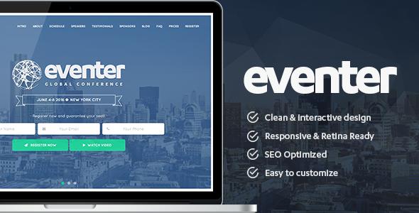 Eventer - قالب وردپرس رویداد و کنفرانس