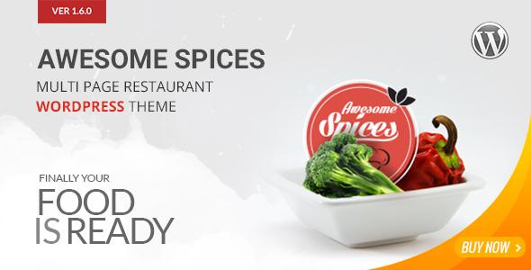 قالب Awesome Spice - قالب وردپرس رستوران و کافه