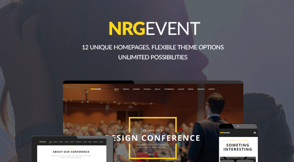 قالب NRGevent - قالب وردپرس کنفرانس و رویداد