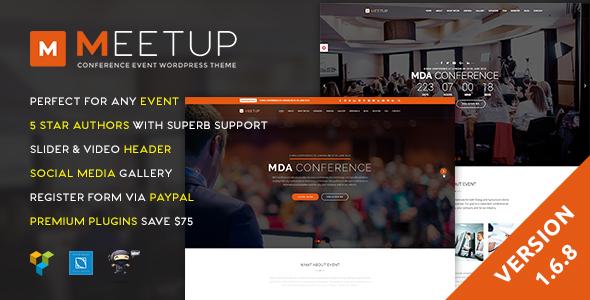قالب Meetup - قالب وردپرس رویداد کنفرانس