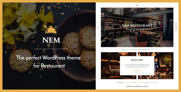 قالب NEM - قالب وردپرس رستوران