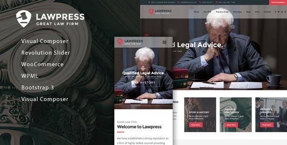 قالب LawPress - قالب وردپرس وکلا