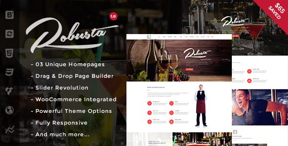 قالب Robusta - قالب وردپرس رستوران و کافه