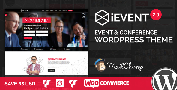 قالب iEvent - قالب وردپرس رویداد و کنفرانس