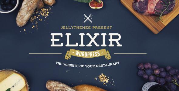 قالب Elixir - قالب وردپرس رستوران
