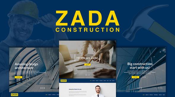 قالب زادا | Zada - قالب وردپرس ساخت و ساز