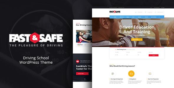 قالب Fast & Safe - قالب وردپرس آموزشگاه رانندگی