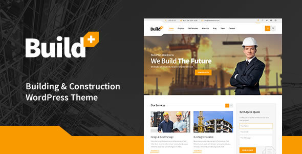 قالب BuildPlus - قالب وردپرس ساخت و ساز