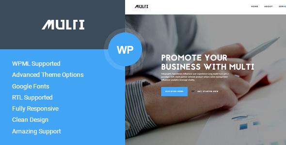 Multi - قالب وردپرس کسب و کار